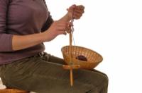 Cómo hacer dos capas del hilado en un husillo Mano