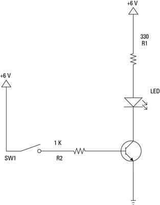 Componentes Electrónicos: Utilice un transistor como un interruptor