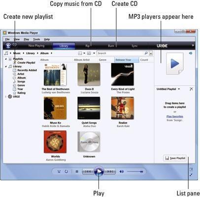 Ejecute Windows Media Player