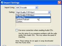 Cómo personalizar los Ajustes del codificador en iTunes