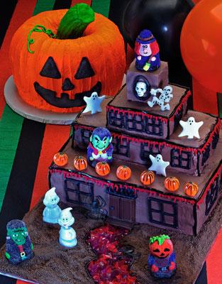 Cómo decorar su torta de Halloween Haunted Mansion