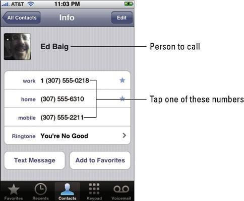 Cómo hacer una llamada con su iPhone 4S
