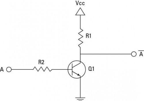 Proyectos electrónicos: Cómo crear un transistor NO Puerta Circuito
