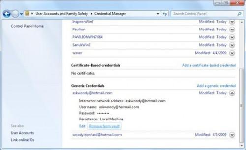 Cómo hacer que Windows 7 se olvide de su Windows Live Messenger Password