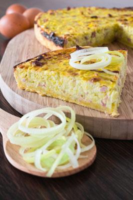 Cebolla y Bacon Pie (Flammkuche)