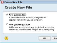 Cómo configurar un nuevo archivo de Quicken 2012