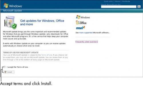 Cómo configurar Microsoft Update para otras aplicaciones en Windows 7