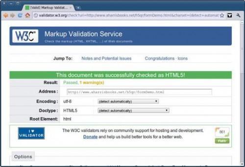 Validar Tu HTML5 Página Web