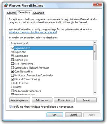 Cómo crear una excepción para el Firewall de Windows Vista