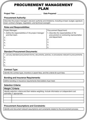 Salidas Plan de Adquisiciones que usted debe saber para el examen de certificación PMP