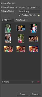 Cómo crear un álbum para organizar las fotos en Photoshop Elements 9