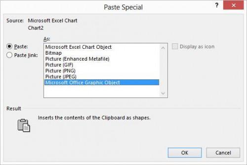 Incorporación de un gráfico de Excel en un documento de Word