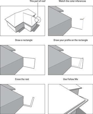 Cómo dibujar el perfil de su Modelo de SketchUp en Place