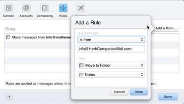 Configuración de las preferencias de correo en iCloud