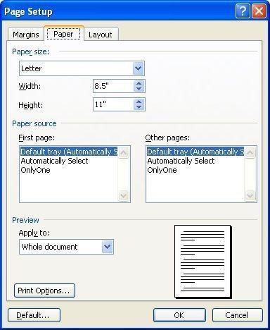 La comprensión de tamaños de página