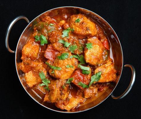 Receta de pollo al curry indio
