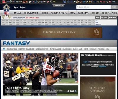 Top Sites Hosting 10 Fantasy Football