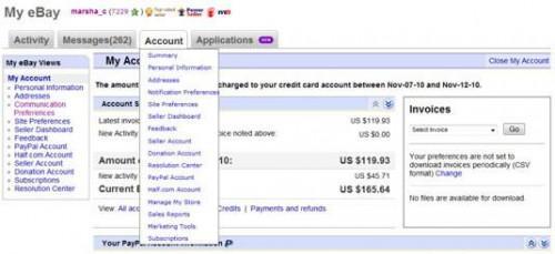 Dónde encontrar información de su cuenta en eBay