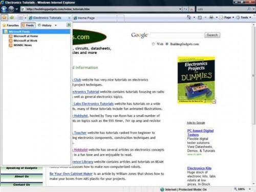 Cómo utilizar Centro de favoritos de Internet € s ExplorerA
